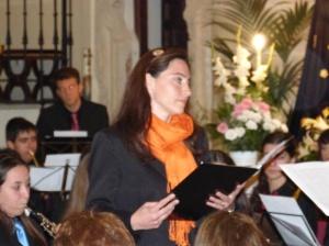 Uno  de los momentos más íntimos y emotivos fue la interpretación de Panis Angelicus  por parte de la Banda Villa de Algete y nuestra solista Raquel Saez. La iglesia se llenó de dulzura y de magia.