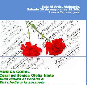 Próximo concierto de la Coral Ofelia Nieto
